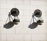 Aufwändige Lampen-Wand Stockfotos