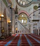 Aufwändige minbar Marmorierungplattform und Nische, Suleymaniye-Moschee, Istanbul, die Türkei Stockfotos