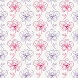 Aufwändige nahtlose mit Blumenbeschaffenheit, Vektor Stockbild