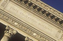 Aufwändige Spalten des Zustands-Bildungs-Gebäudes, Albanien, NY lizenzfreies stockfoto
