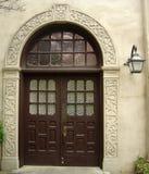 Aufwändige Tür zu Alamo-Auftrag in San Antonio, Texas lizenzfreie stockfotos