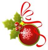 Aufwändige Weihnachtskugel Stockfoto