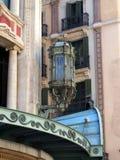 Aufwändiger Art Deco Street Light, gotisches Viertel, Barcelona Lizenzfreie Stockfotografie