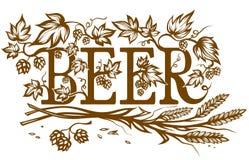 Aufwändiger Bieraufkleber Stockbilder