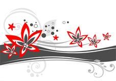 Aufwändiger Blumenhintergrund Lizenzfreies Stockfoto