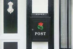 Aufwändiger Briefkasten - Detail Stockfoto