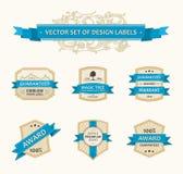 Aufwändiger Dekor der vektorgesetzten Weinlese verziert Farbband Lizenzfreie Stockbilder