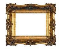 Aufwändiger Goldbilderrahmen Lizenzfreies Stockfoto
