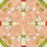 Aufwändiger Hauptdekor der abstrakten Geometrie Stockfoto