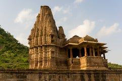 Aufwändiger hindischer Tempel von Krishna Stockfotografie
