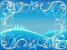 Aufwändiger Hintergrund des Winters Stockfoto