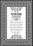 Aufwändiger Rahmen der Weinlese mit Beispieltext Stockfoto