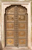 Aufwändiger Tür-Jaipur-Stadt-Palast Stockfoto