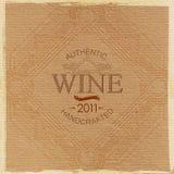 Aufwändiger Weinaufkleber auf Pappbeschaffenheit lizenzfreie abbildung