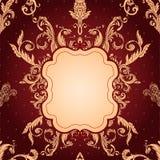 Aufwändiges barockes Muster des Weinlesehintergrundes Stockfoto