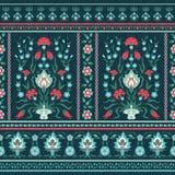 Aufwändiges Blumenmuster in der orientalischen Art Stockfoto