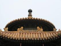 Aufwändiges chinesisches Dach Stockbild