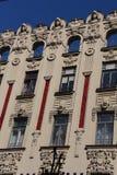 Aufwändiges Gebäude in Riga Stockfotos