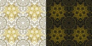 Aufwändiges nahtloses mit Blumenmuster der Vektorweinlese Luxusarabeskenhintergründe eingestellt Retro- Dekor Dekorative Abbildun Lizenzfreies Stockbild