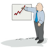 Aufwärts Diagramm Lizenzfreie Stockfotografie