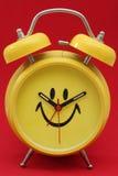 Aufwachen glücklich stockbild