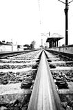 Aufwartung an der Station Stockbilder