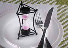 Aufwartung des Abendessens Stockbild