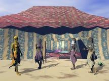 Aufwartung in die Wüste lizenzfreie abbildung