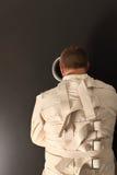 Aufwartung in eine Zwangsjacke Stockfoto