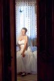 Aufwartung eines Bräutigams Lizenzfreies Stockbild