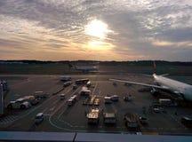 Aufwartung meines Flugzeuges Stockfotos