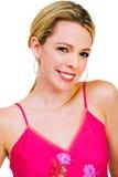 Aufwerfende und lächelnde Frau Lizenzfreie Stockfotos