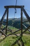 Aufzüge im Holz für Lebensmitteltransport Lizenzfreie Stockbilder