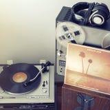 Aufzeichnung KÖNIGE OF LEON Vinylkommen herum Sonnenuntergangsalbum Stockfoto