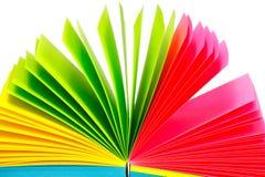 Aufzeichnungen des farbigen Papiers Lizenzfreie Stockfotos