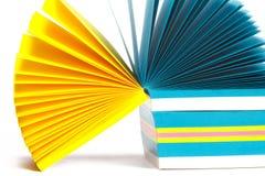 Aufzeichnungen des farbigen Papiers Stockbilder