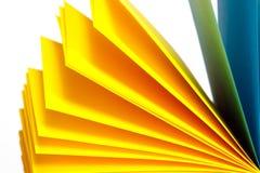Aufzeichnungen des farbigen Papiers Stockbild