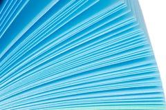 Aufzeichnungen des farbigen Papiers Stockfotos