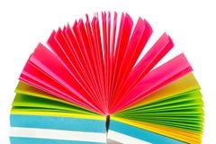 Aufzeichnungen des farbigen Papiers Lizenzfreies Stockfoto