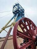 Aufzug des Bergwerkes Stockfoto