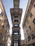 Aufzug Sankt-Justa in Lissabon, Portugal Lizenzfreies Stockfoto