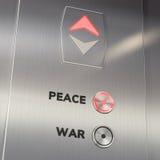 Aufzugs-Friedensknopf Stockbild
