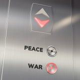 Aufzugs-Kriegs-Knopf Lizenzfreie Stockbilder