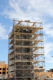 Aufzugs-Welle im Bau stockbild