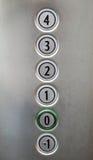 Aufzugsknöpfe Stockfoto