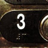 Aufzugsknopf drei Lizenzfreies Stockfoto