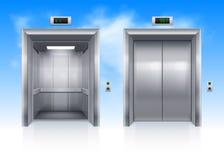 Aufzugstüren Stockfotografie