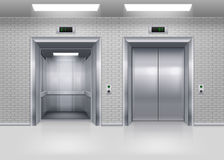 Aufzugstüren Lizenzfreies Stockfoto