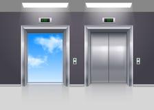 Aufzugstüren Lizenzfreies Stockbild