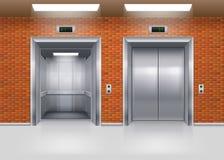 Aufzugstüren Stockbild